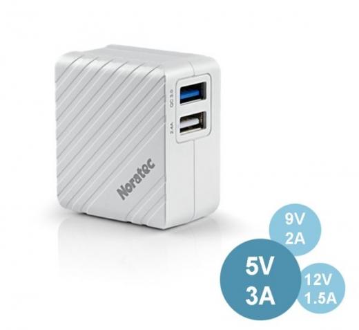 TC-C350Q BSMI QC3.0+ISO 2.4A dual port quick charger 1
