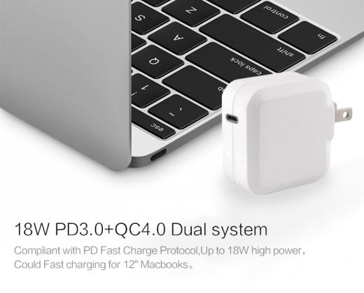 TC-KPD18W Type C PD 3.0+QC3.0 USB quick charger 2
